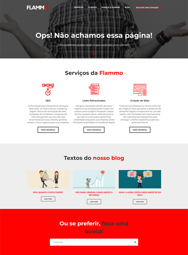 Página 404 - site Flammo