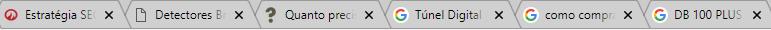 Títulos das páginas no Google Chrome