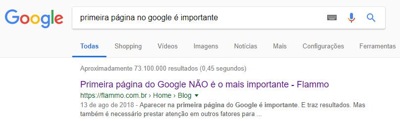 Título de Página - Resultado no Google