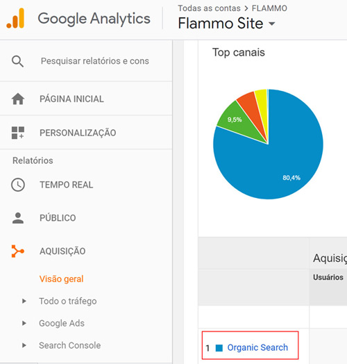 Google Analytics - Busca orgânica
