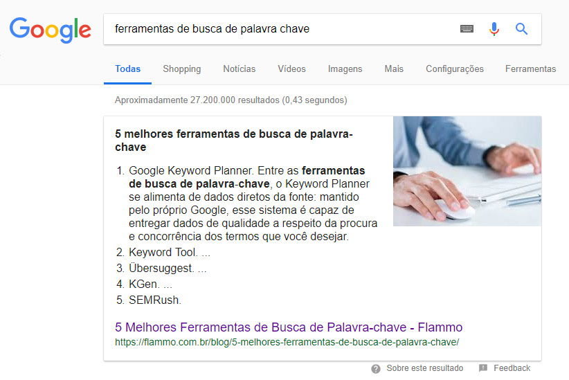 Featured Snippet - Lista