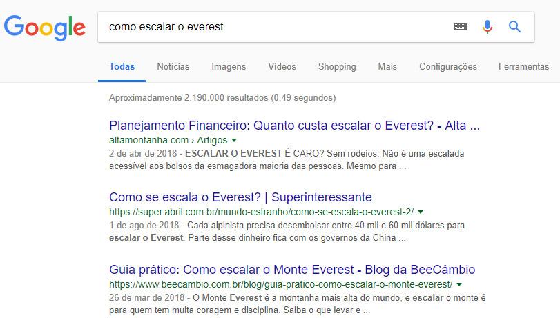 Intenção de busca - exemplo 02