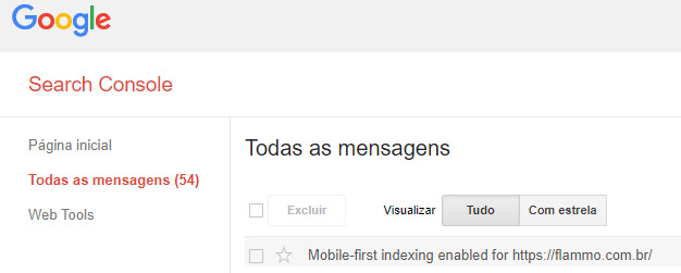 Mobile first - Google Search Console