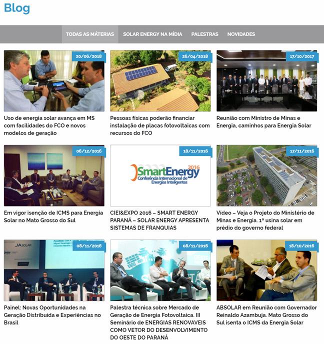 Conteúdo - Blog Solar Energy