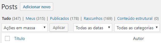 Total de conteúdos publicados - site Flammo