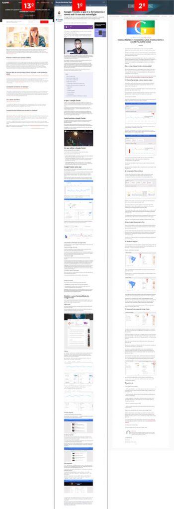 Google trends como usar - comparação de resultados
