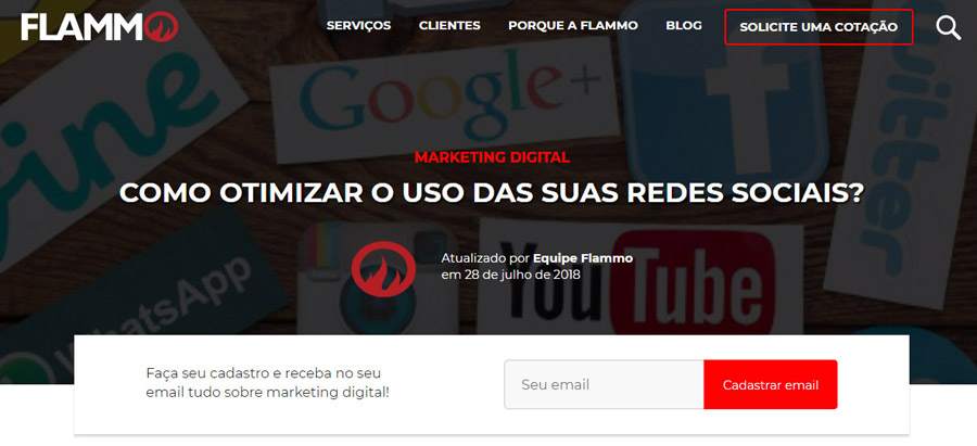 Texto site Flammo - descartado