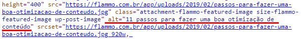 Código - alt tag