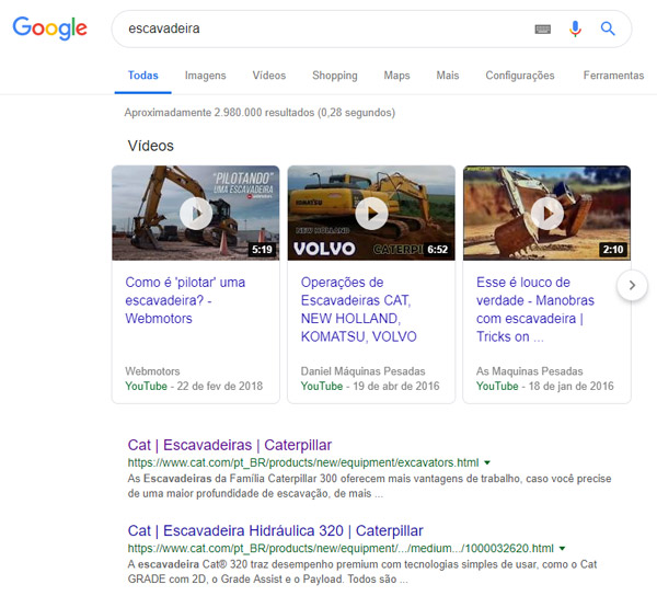 Conteúdo - principais respostas resultados de busca