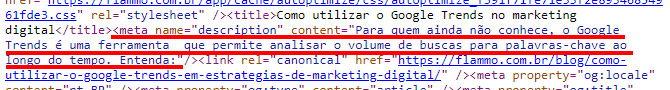 Meta tag description (código-fonte):