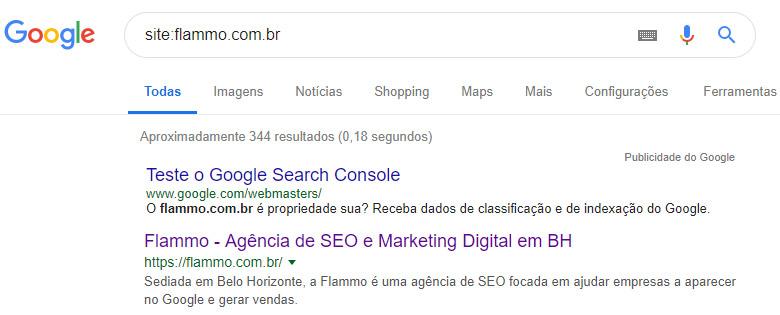 Indexação - teste no Google