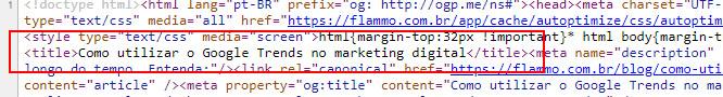 Código - title no código-fonte