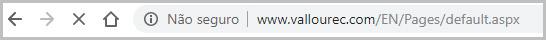 Site não seguro - Google Chrome