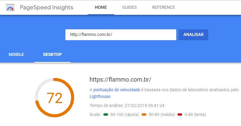 Velocidade -PageSpeed Insights