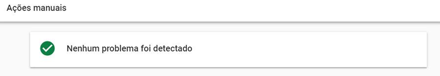 Google Search Console - ações manuais