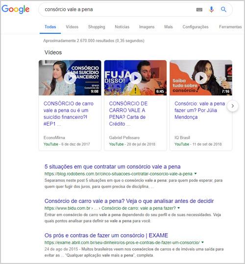 Intenção de busca - usando o Google