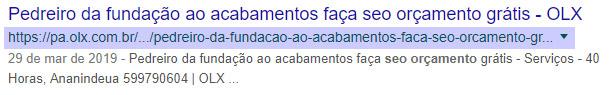 Endereço de página no Google - exemplo ruim
