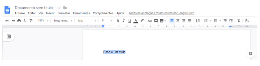 Editar heading tag - Documentos Google