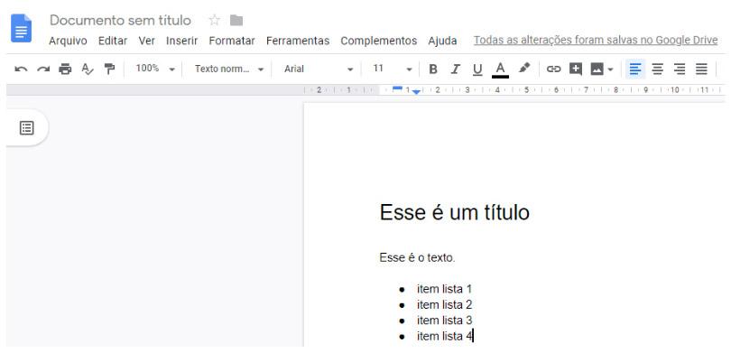 Lista editada - Documentos Google
