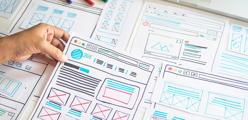 Wireframes conceito